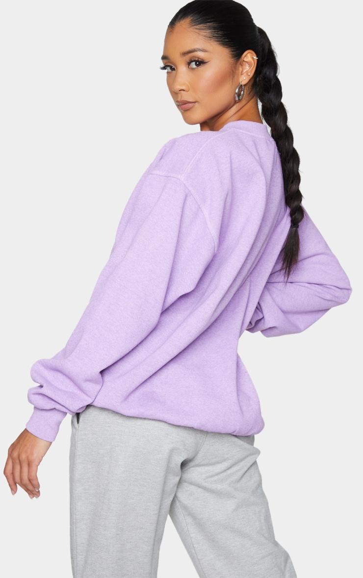 Purple Washed Sweatshirt 4