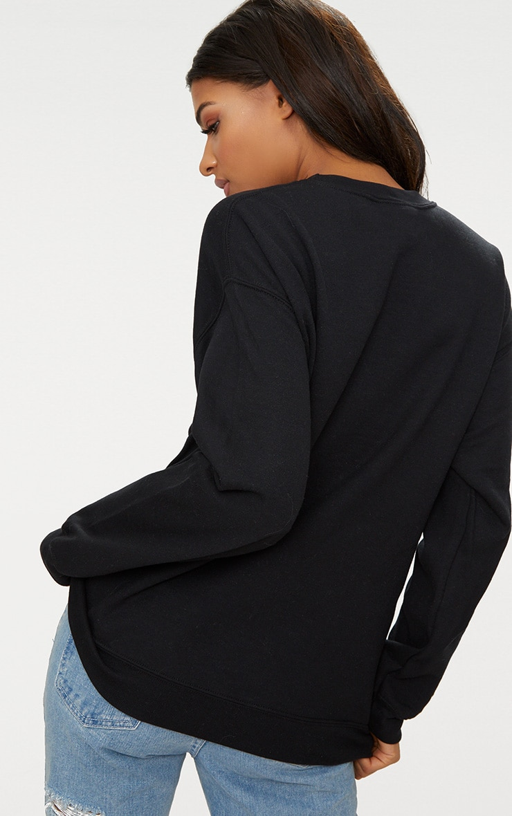 Black Future Slogan Sweater  2