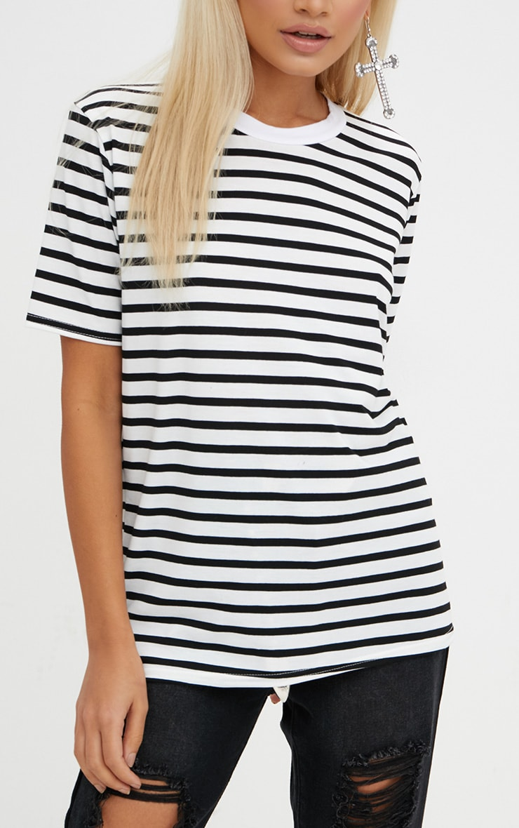 Black Stripe T Shirt  5