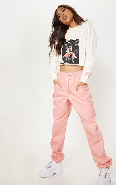 Rose Double Pocket Detail Cargo Pant