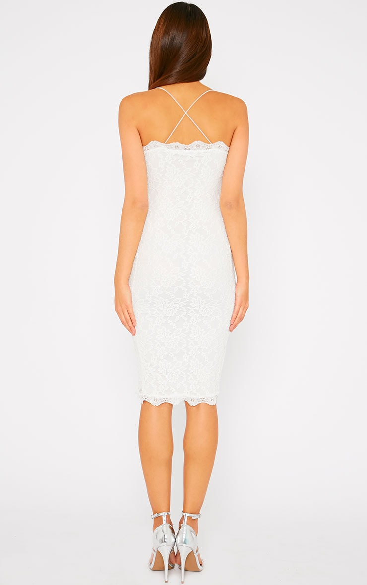 Isabelle Cream Lace Midi Dress 2