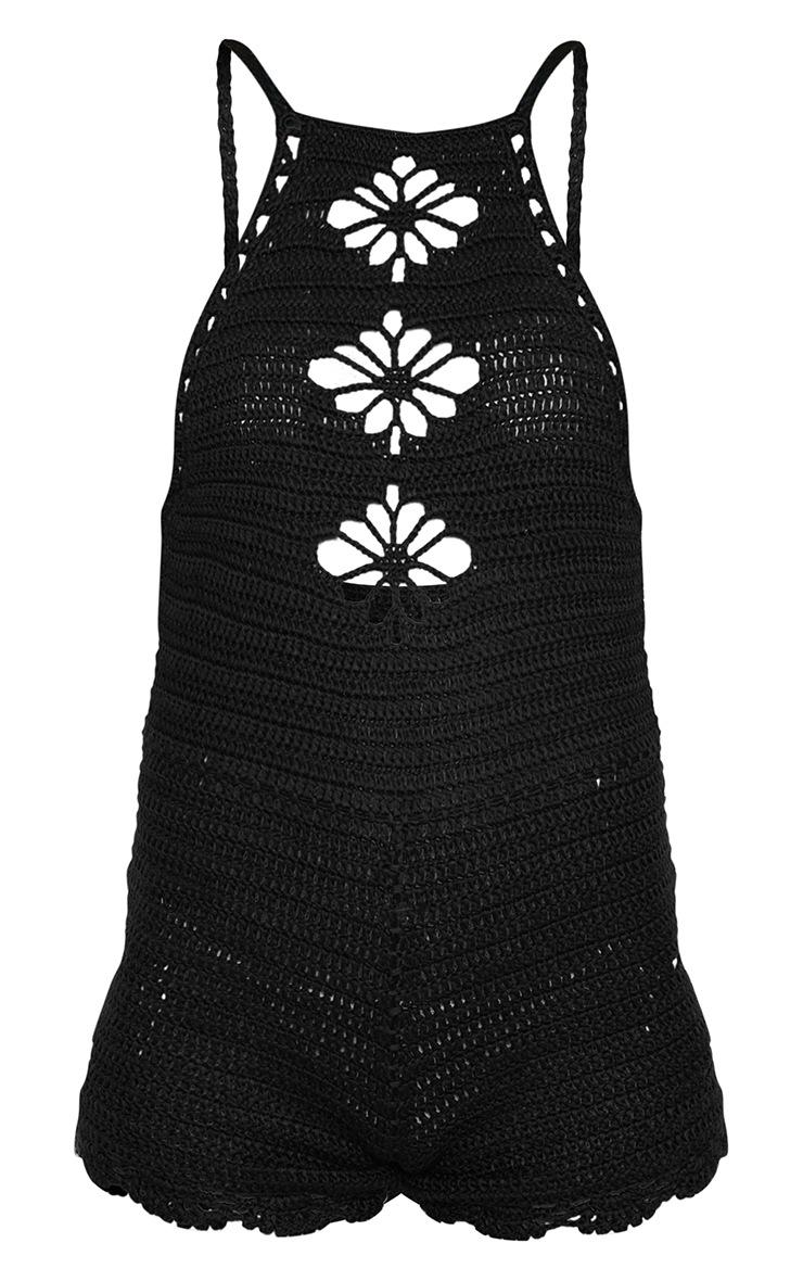 Black Crochet Playsuit 3