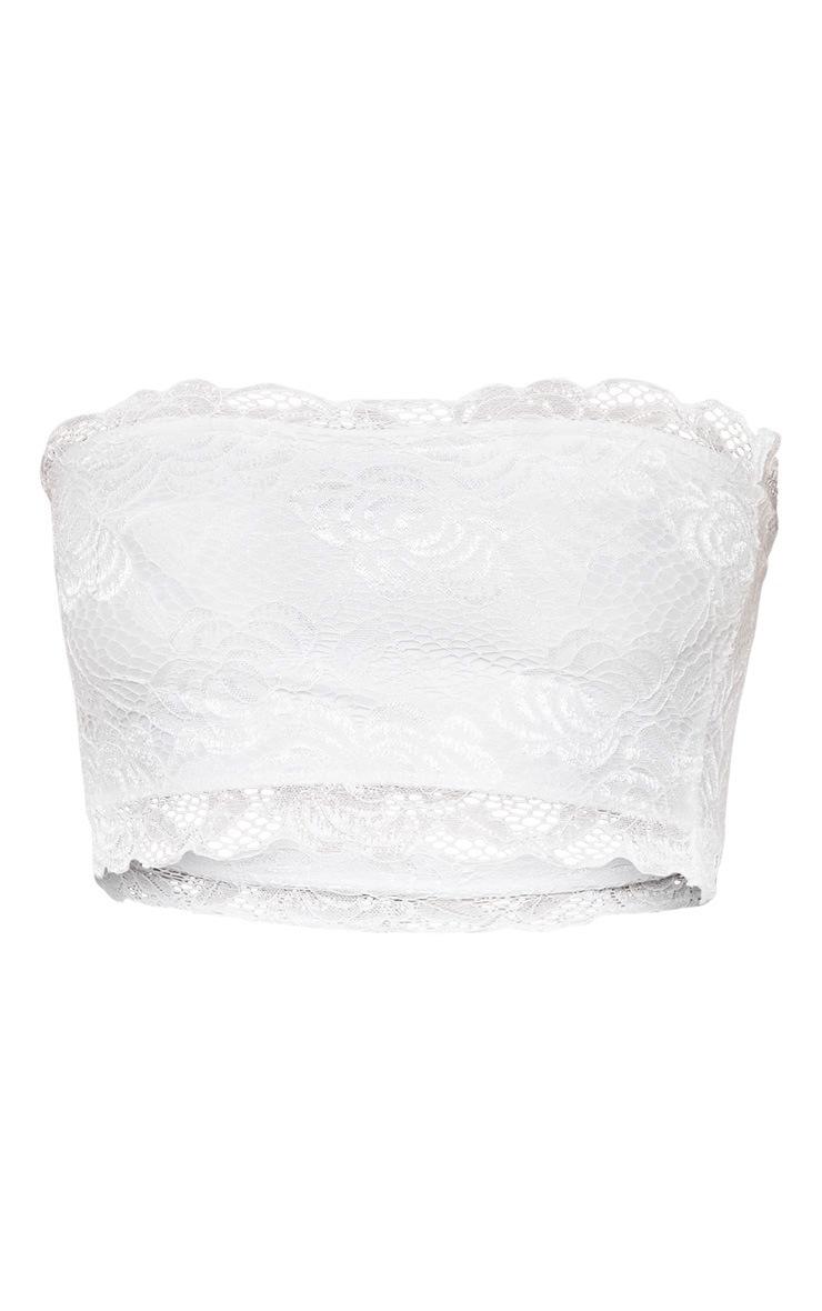 White Lace Frill Bandeau 3