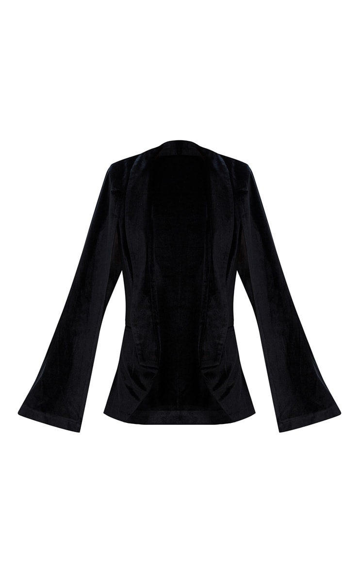 Black Velvet Cape Blazer 3