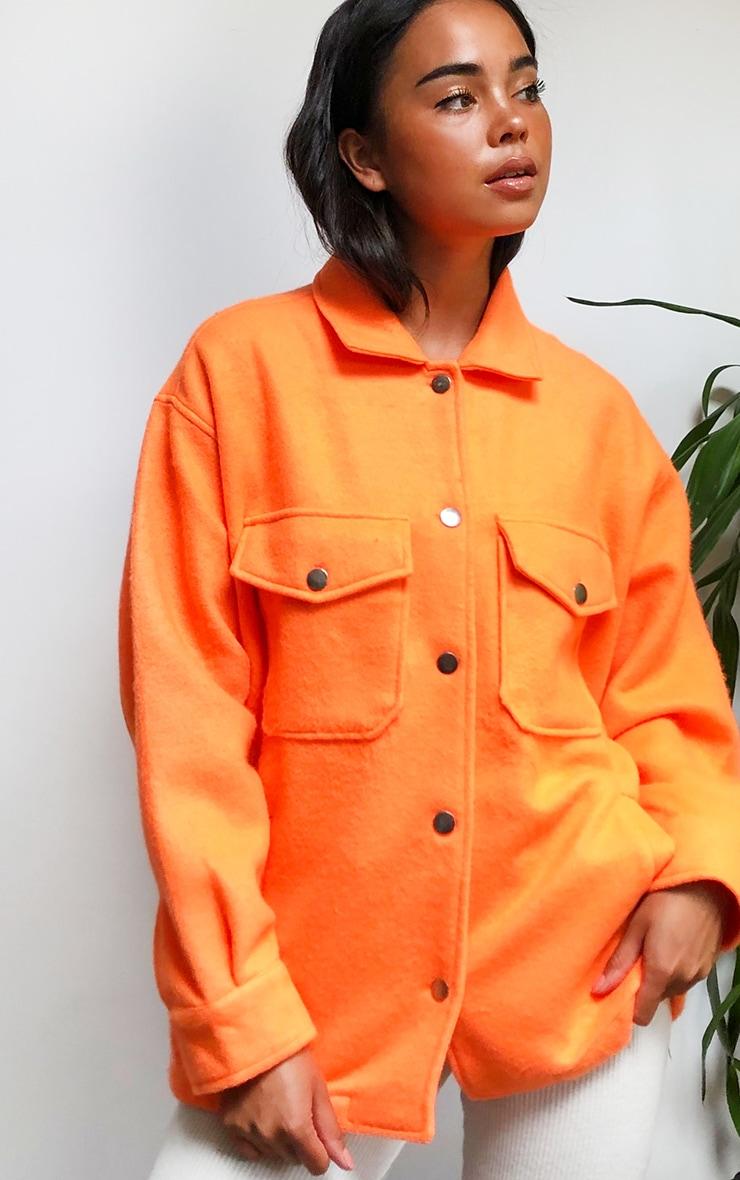 Orange Pocket Front Shacket 4