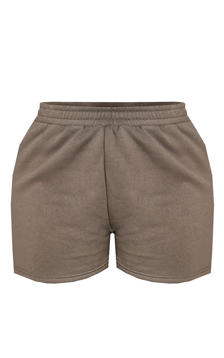 RENEW PRETTYLITTLETHING Plus Khaki Sweat Pocket Shorts 6