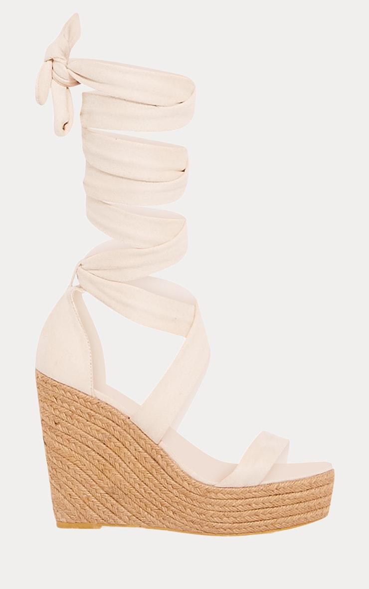 Nude Leg Wrap Espadrille Wedge Sandal 3