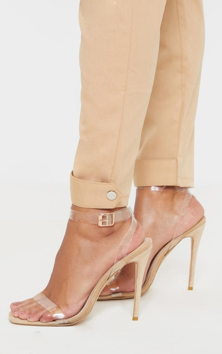 Camel Cuff Hem Trousers  5