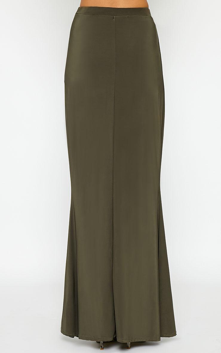 Dalia Khaki Maxi Skirt 4