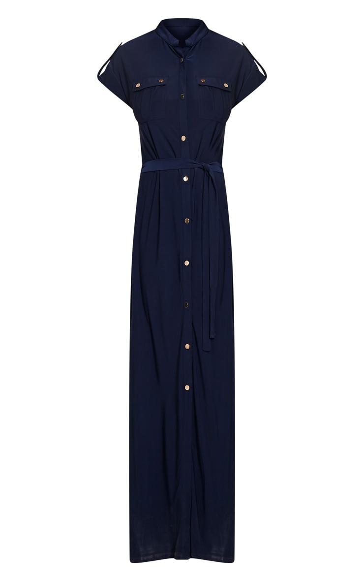 Larrie Navy Utility Maxi Dress 3