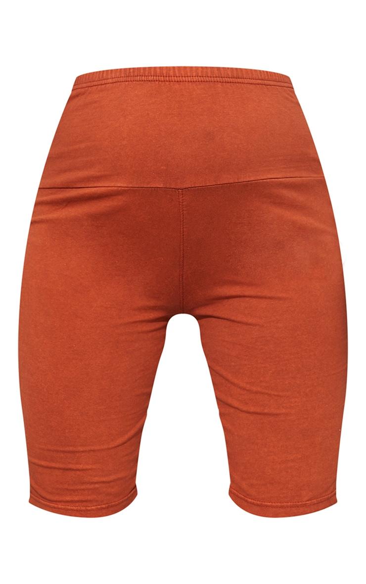 Maternity Rust Bump Band Cotton Cycle Shorts 6