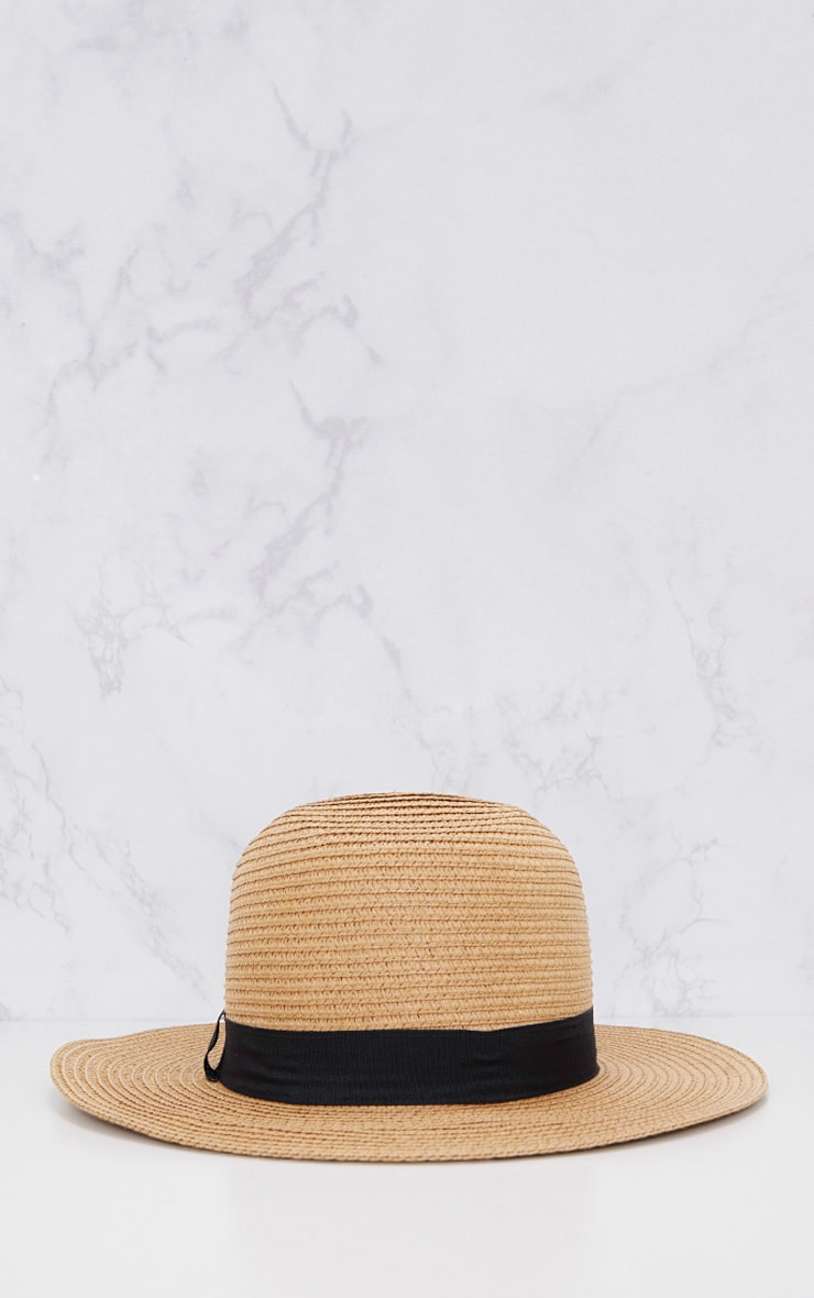 Straw Trilby Hat 4