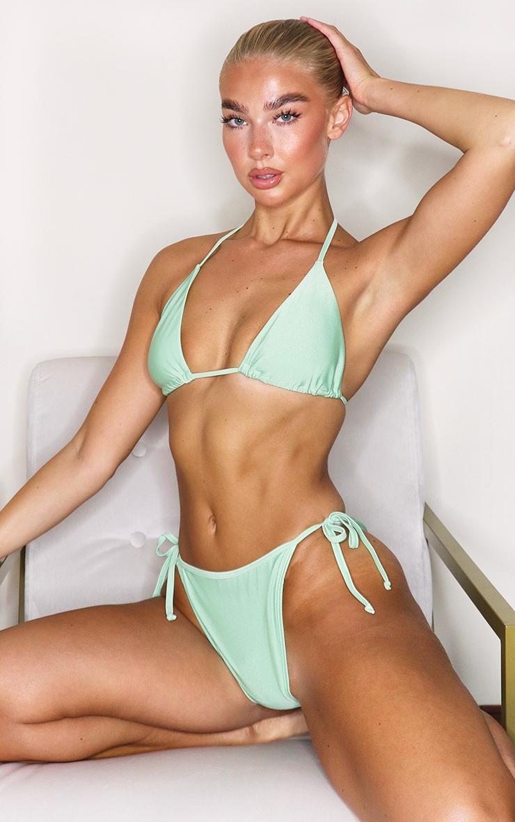 Sage Green Mix & Match Triangle Bikini Top 1