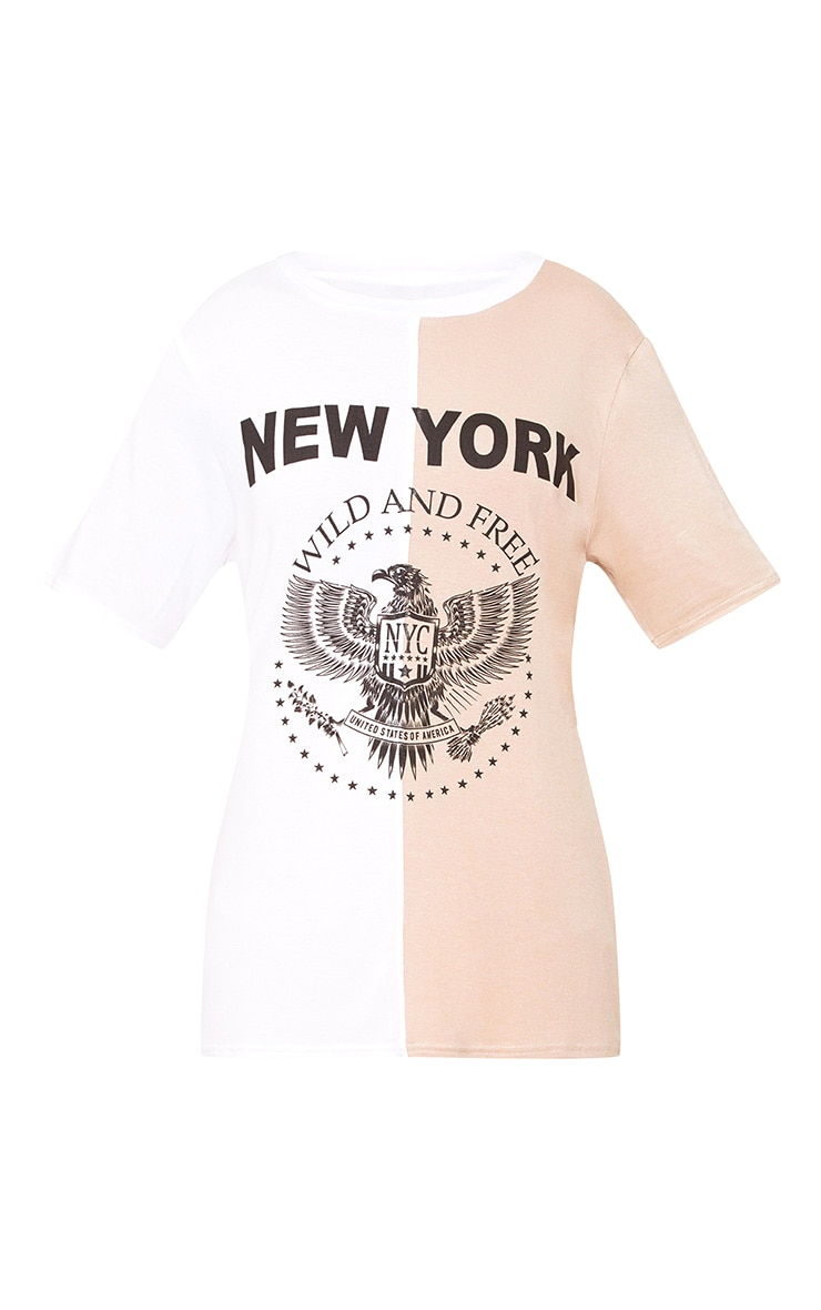 White Wild & Free Spliced Slogan T Shirt 3