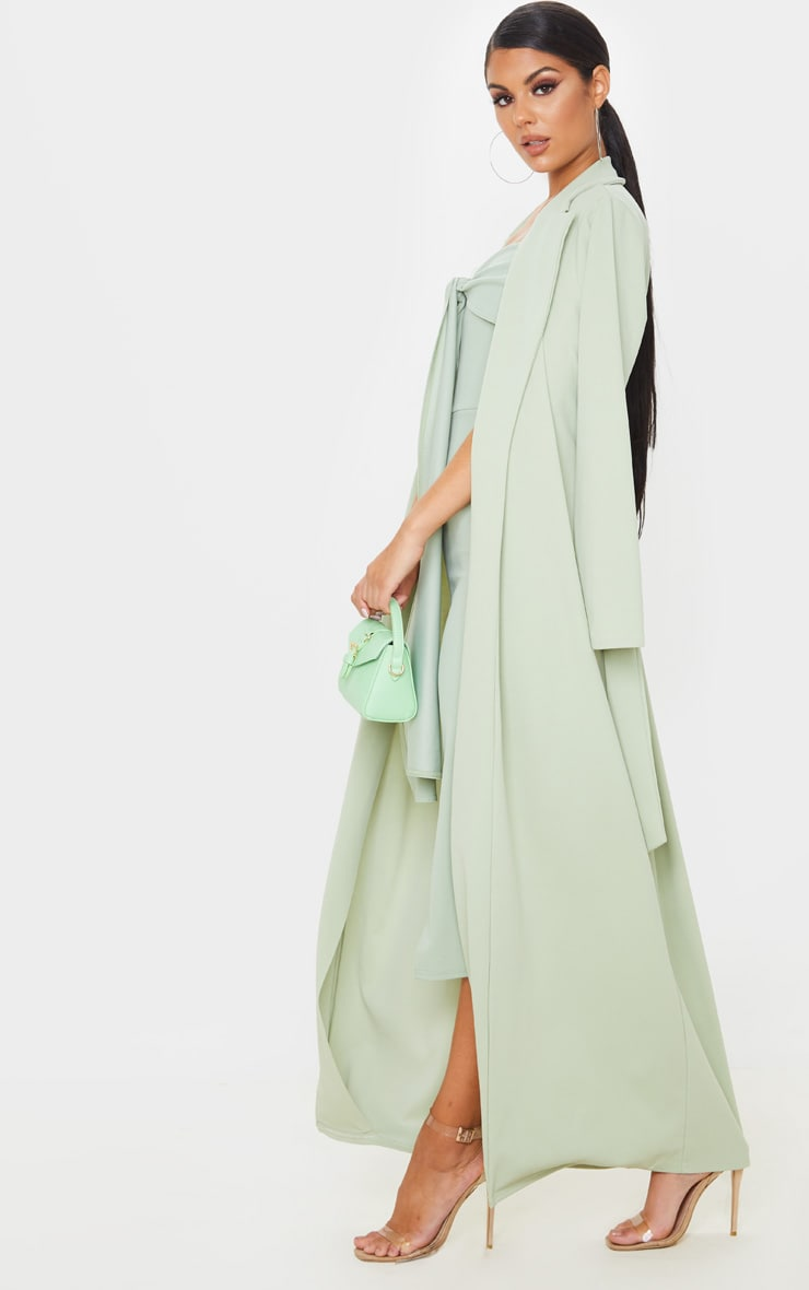 Sage Green Maxi Duster 6
