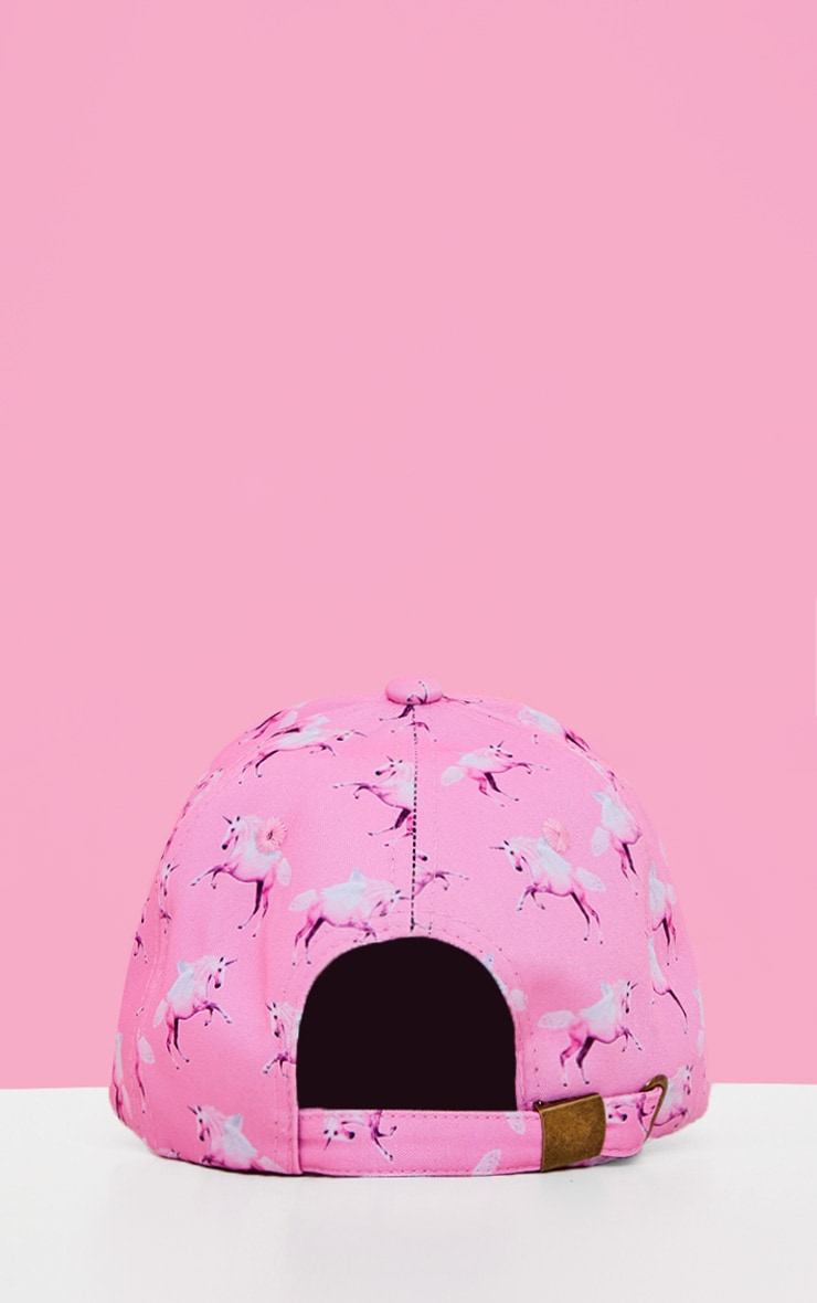 PRETTYLITTLETHING Unicorn Pink Baseball Cap 5