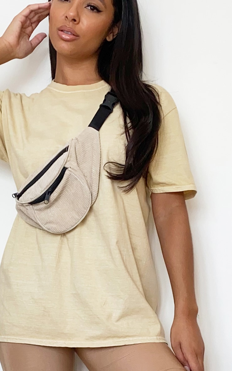 Beige Washed T Shirt 4