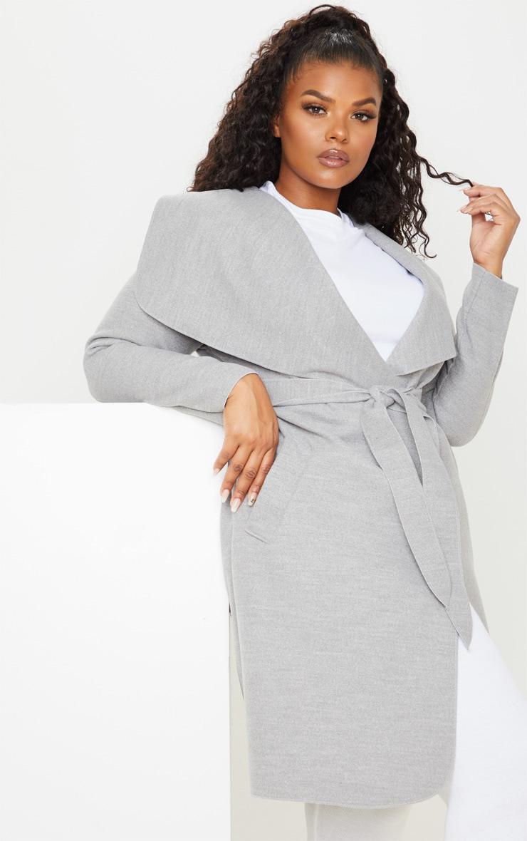 PLT Plus - Manteau gris effet cascade 5