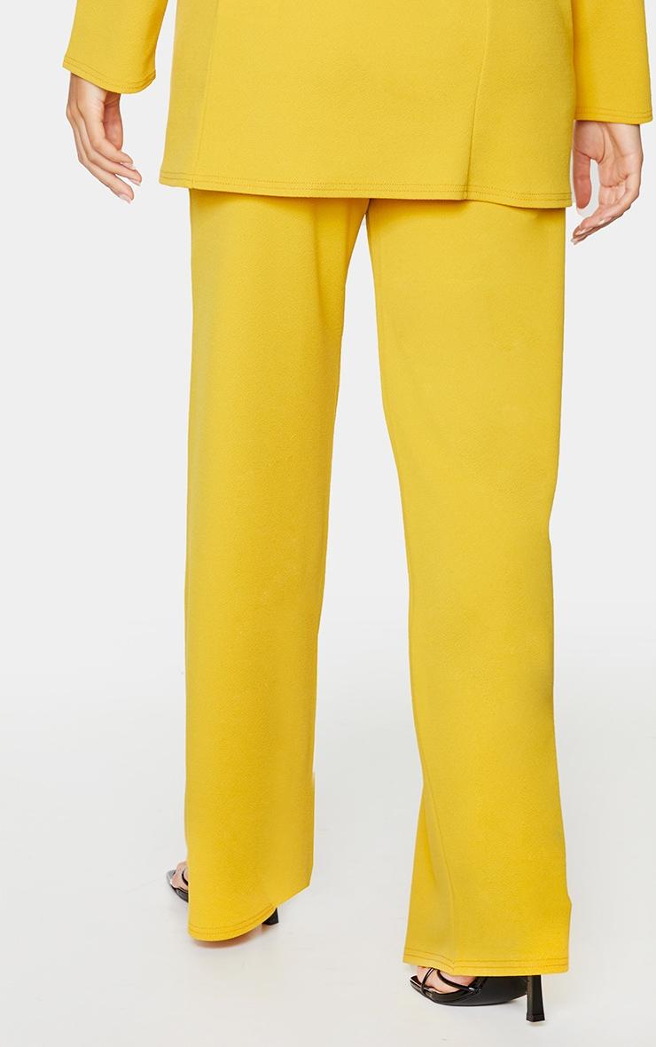 Mustard High Waisted Wide Leg Trousers 3
