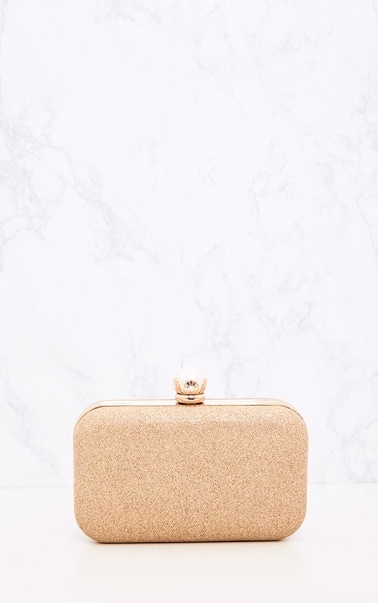 Gold 3D Flower Box Clutch 4
