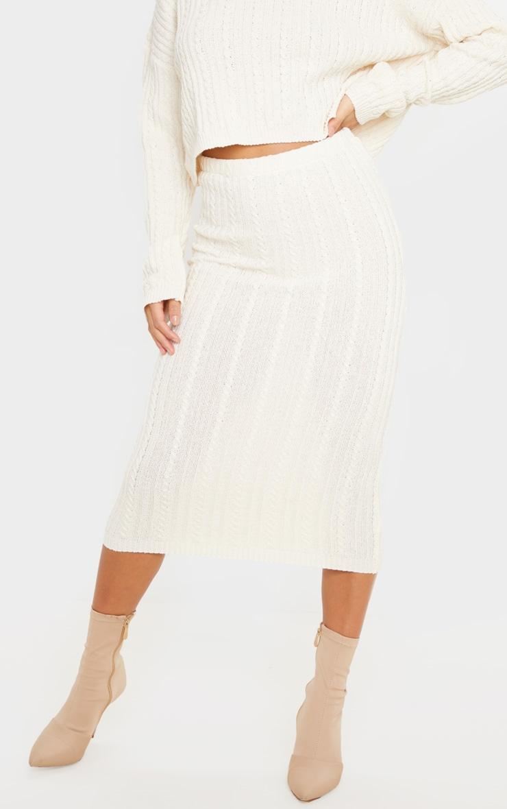 Petite Stone Knitted Midi Skirt 2