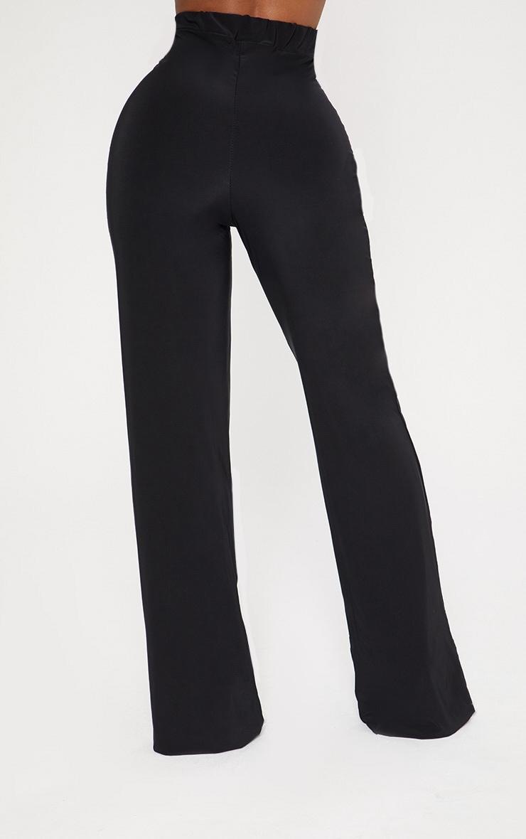 Shape Black High Waist Slinky Wide Leg Pants 4
