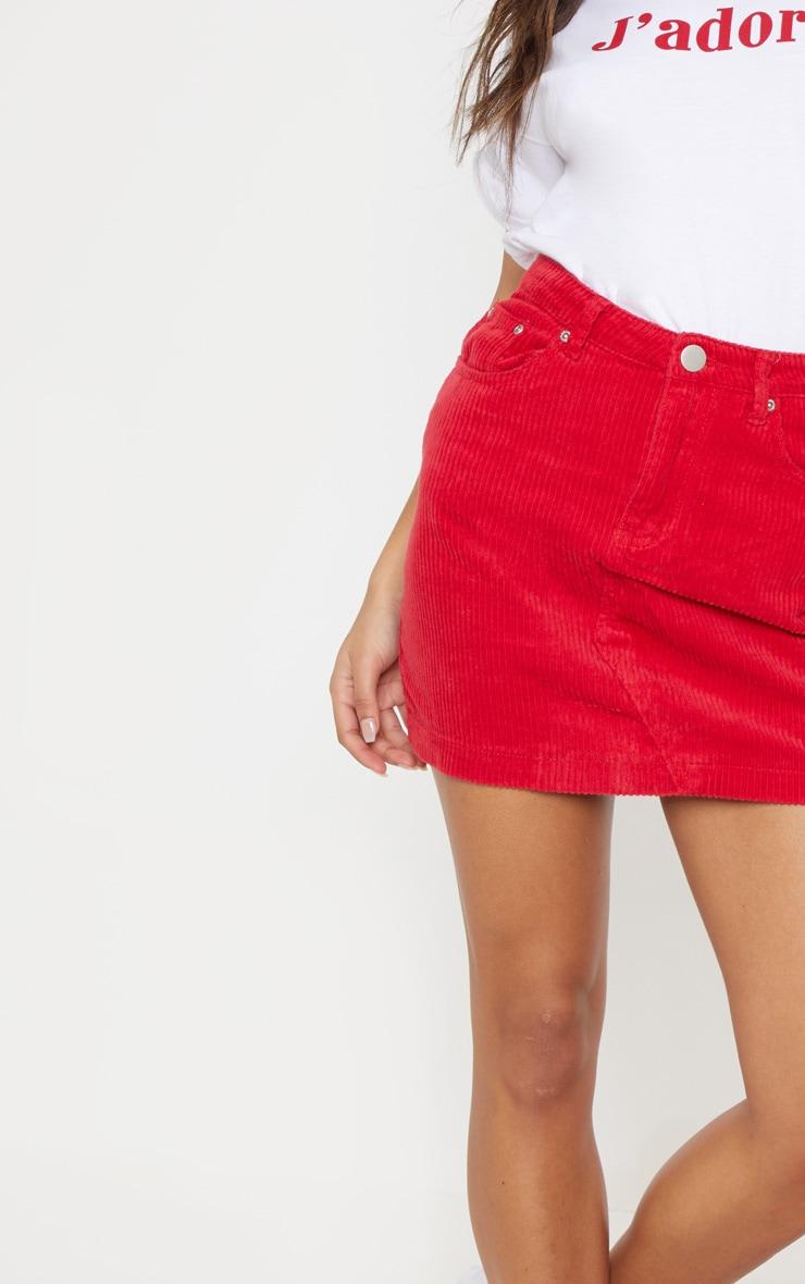 Red Jumbo Cord Skirt 6