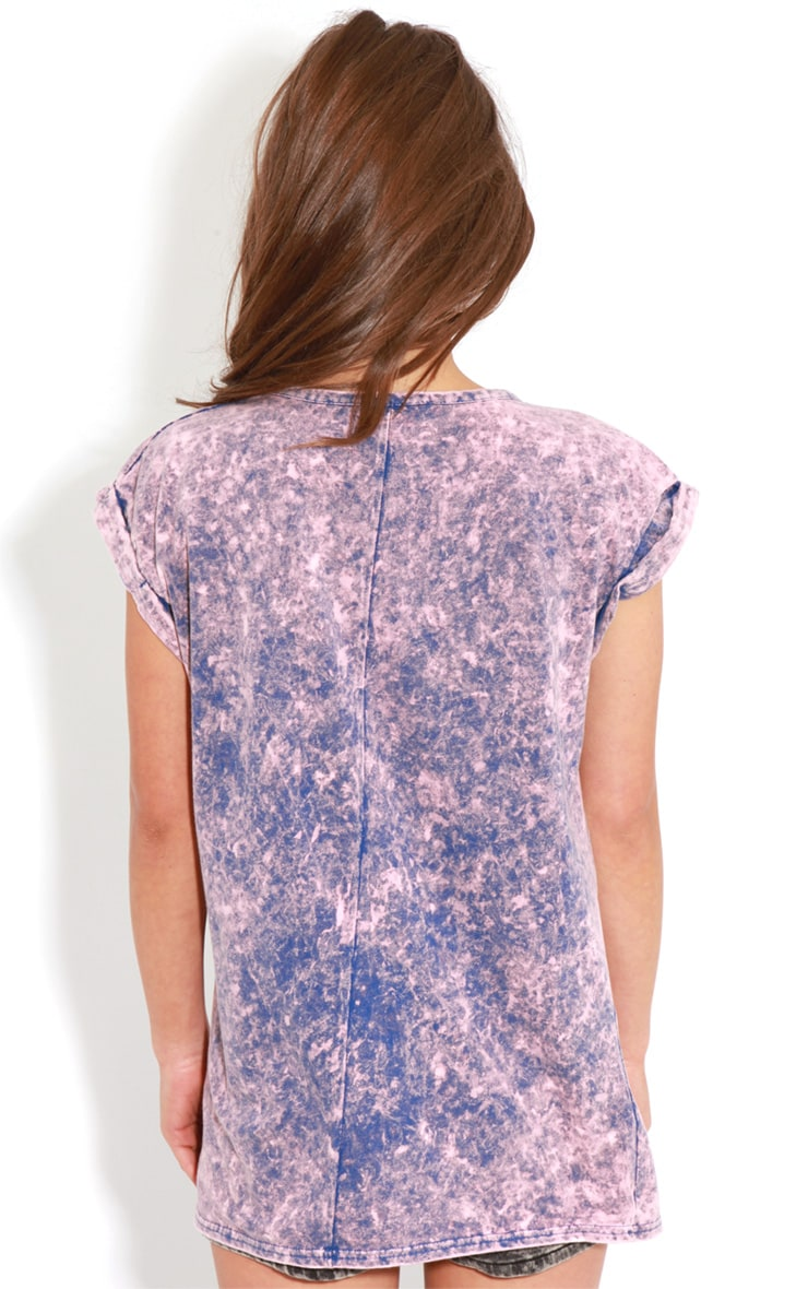Anya Purple Acid Wash Oversize Tee 2