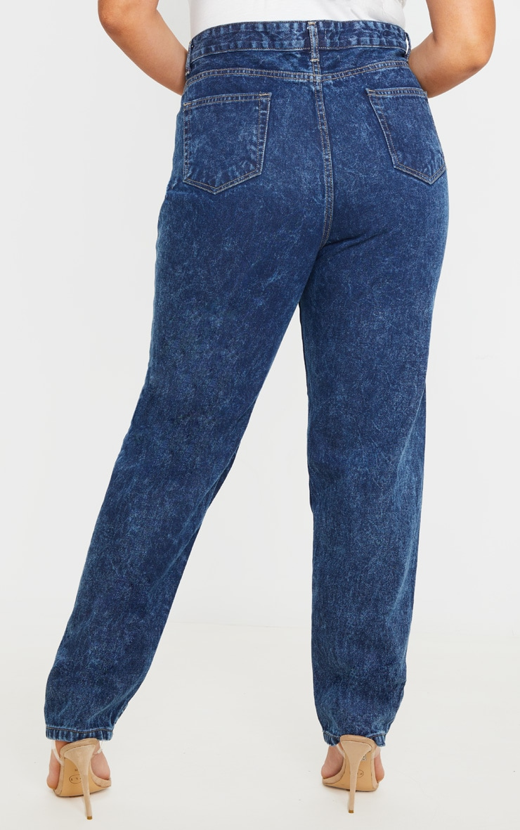 Plus Mid Acid Wash Mom Jean 5