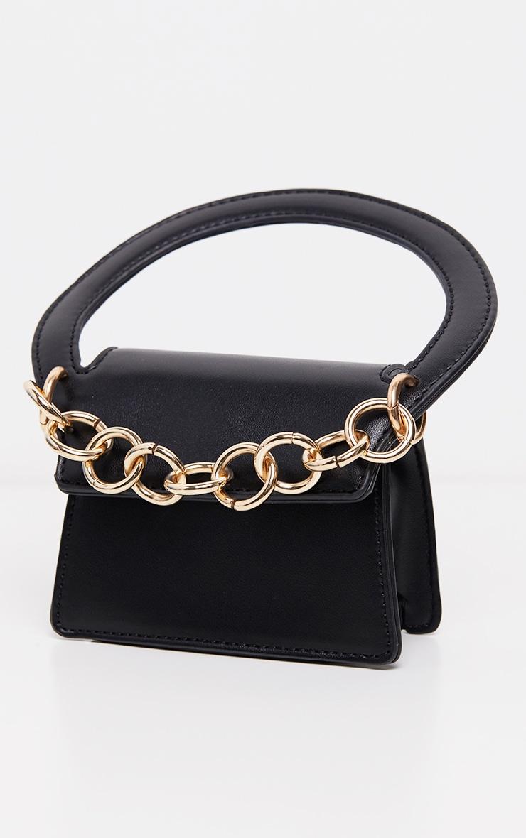 Mini-sac noir à détail chaîne 2