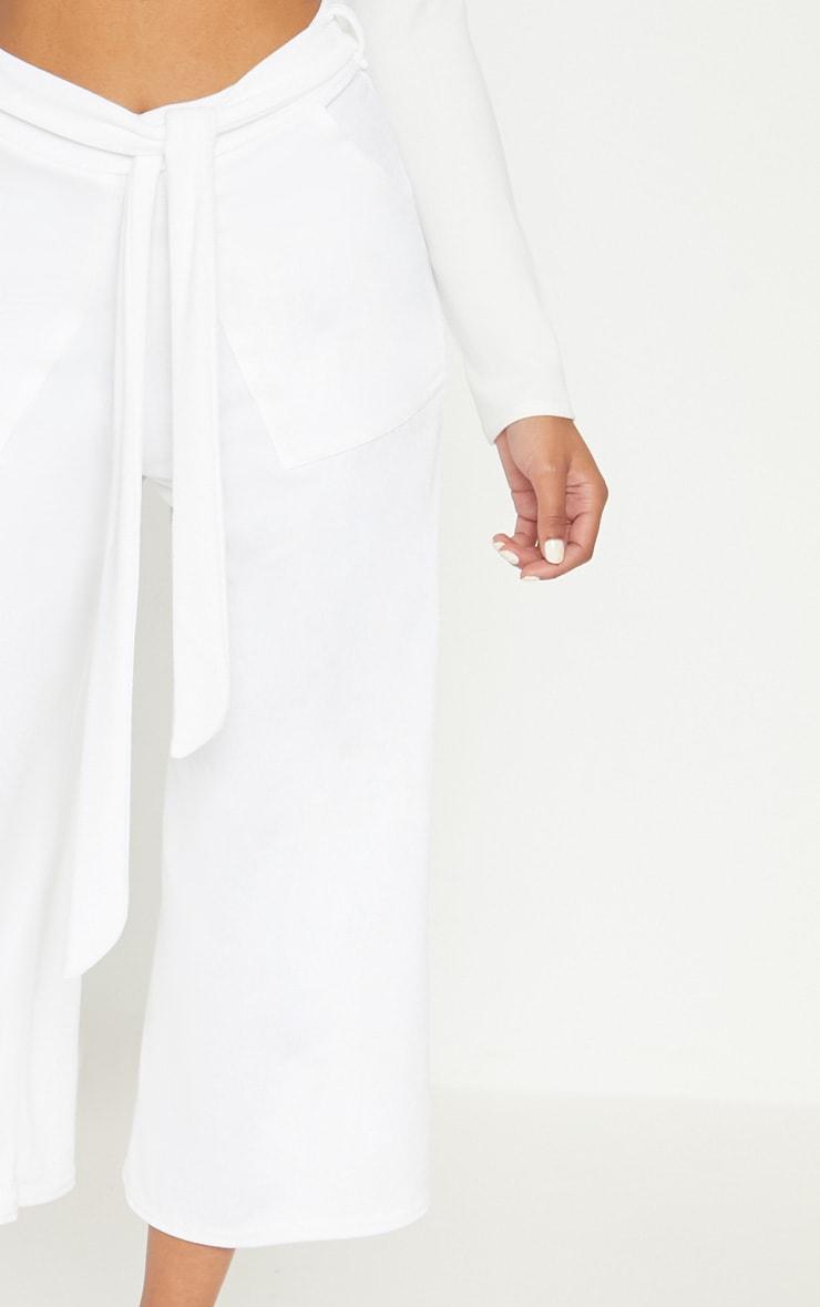 White Tie Waist Culotte 5