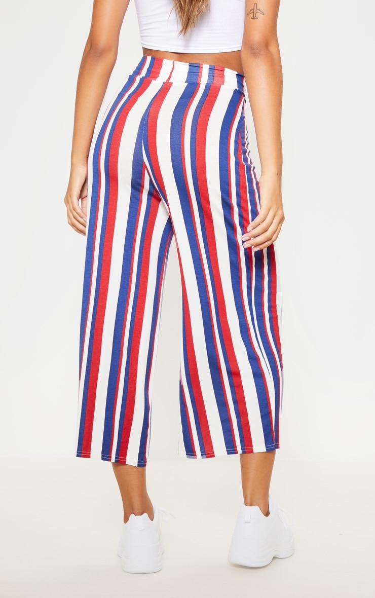 Scarlet Stripe Basic Culotte  4