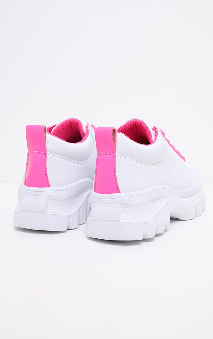 Neon Pink Chunky Cleated Sole Trainer 5
