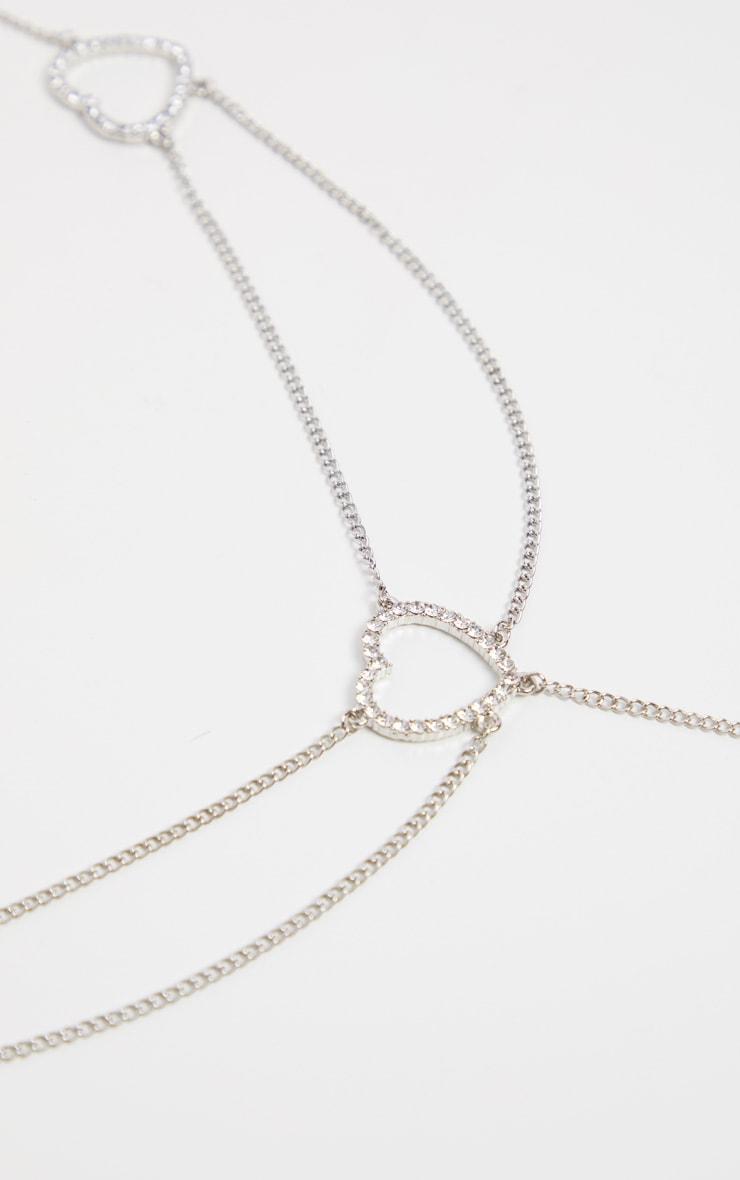 Silver Heart Chain Belt  3