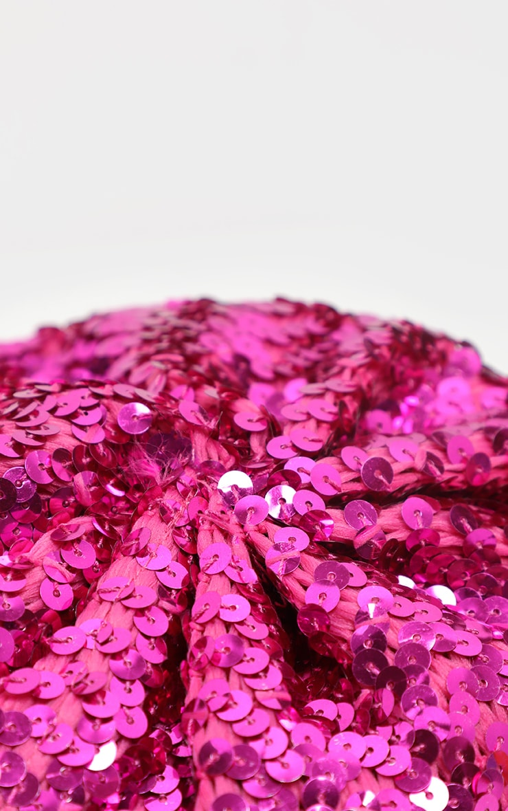 Pink Sequin Beret 3
