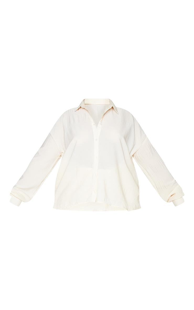 Plus Stone Textured Plisse Floaty Shirt 5