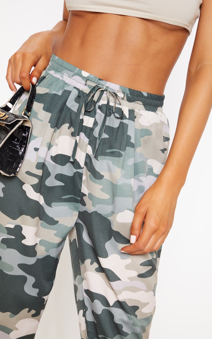 True Camo Print Cigarette Pants 5