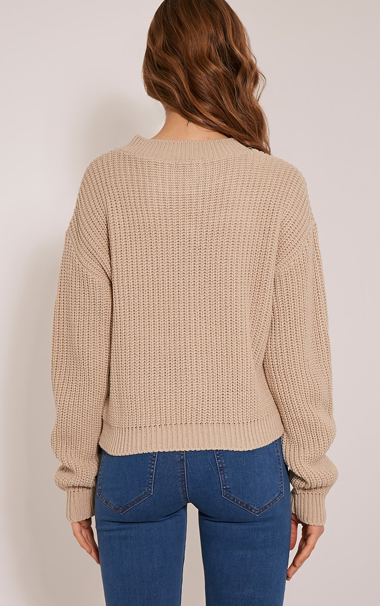 Cara pull court tricoté gris pierre 2