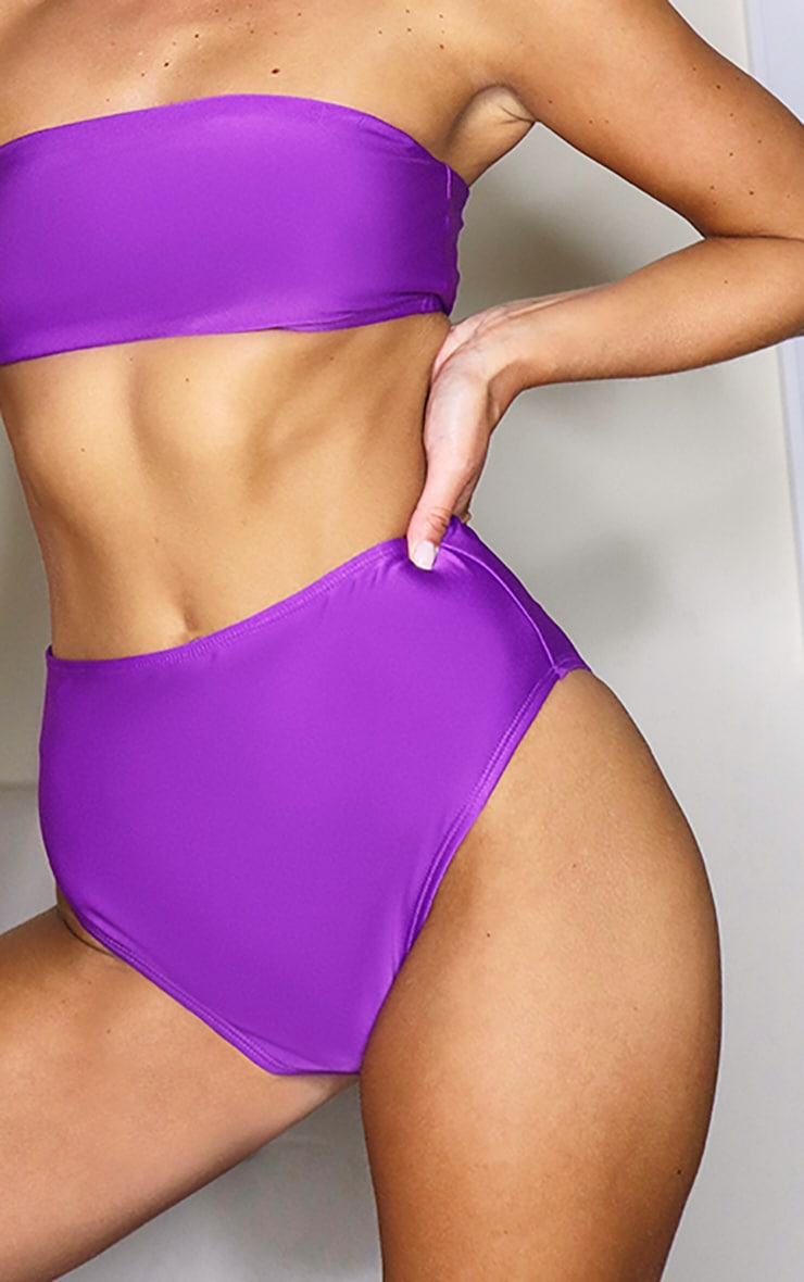 Purple Mix & Match Bandeau Bikini Top 5