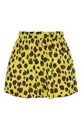 Yellow Cheetah Beach Shorts 7