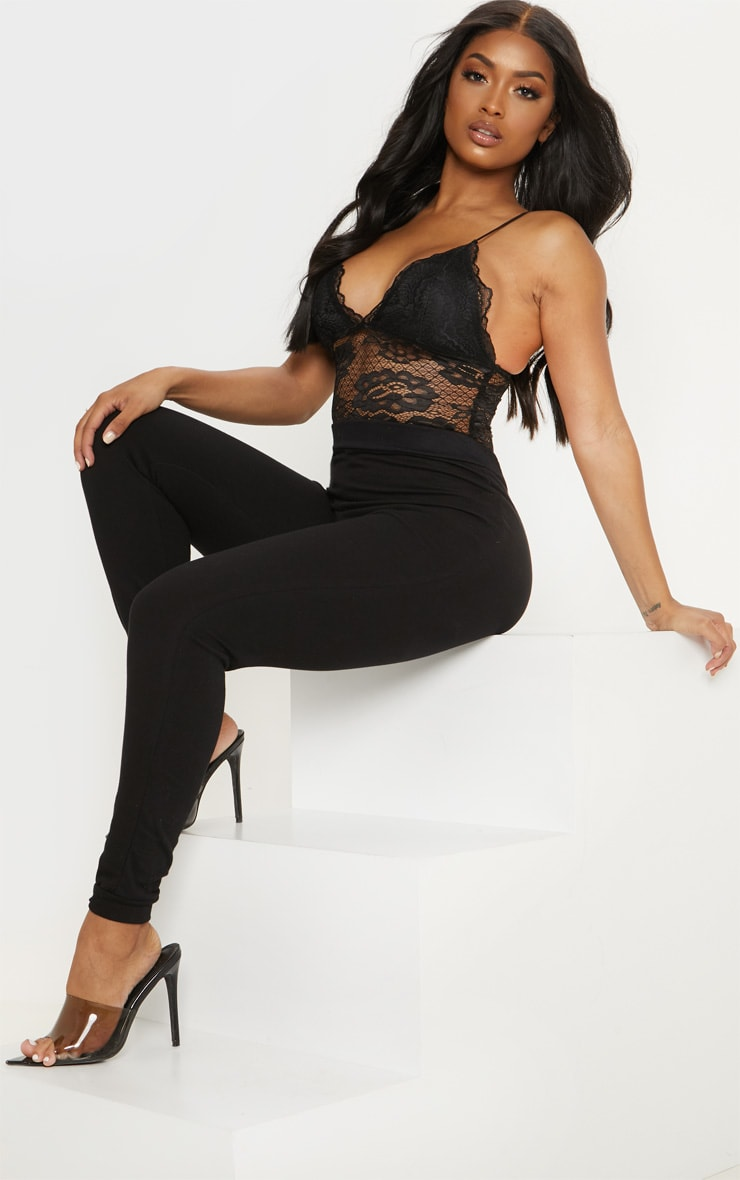 Shape Black Scallop Edge Lace Bodysuit 5