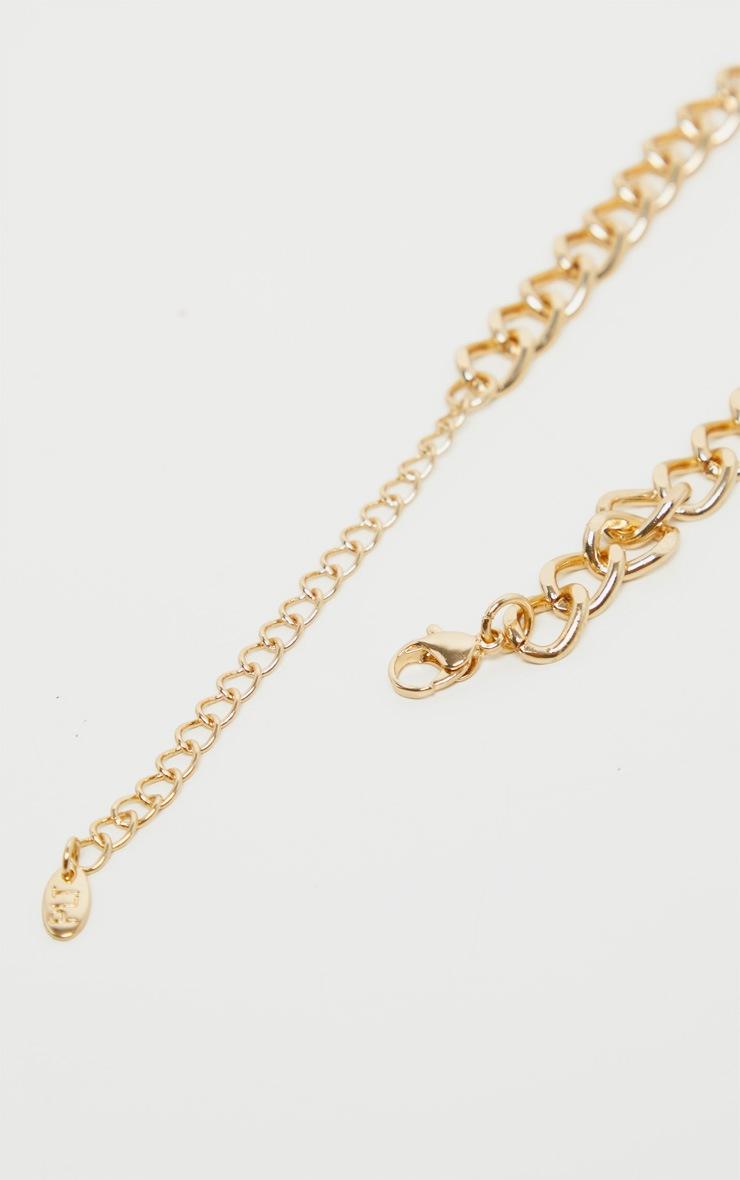 Gold Oversized Ornate Cross Chain Choker 5
