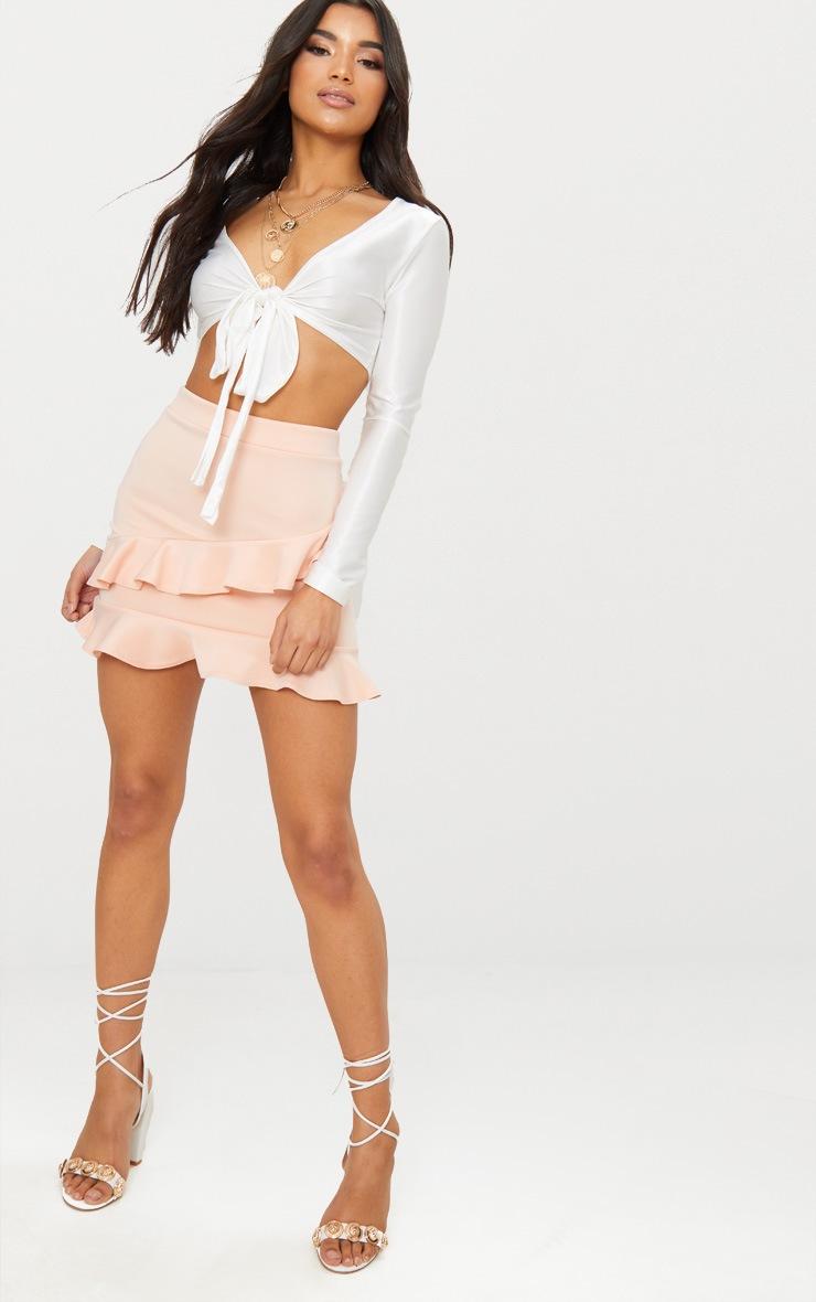 Blush Scuba Double Frill Mini Skirt 5