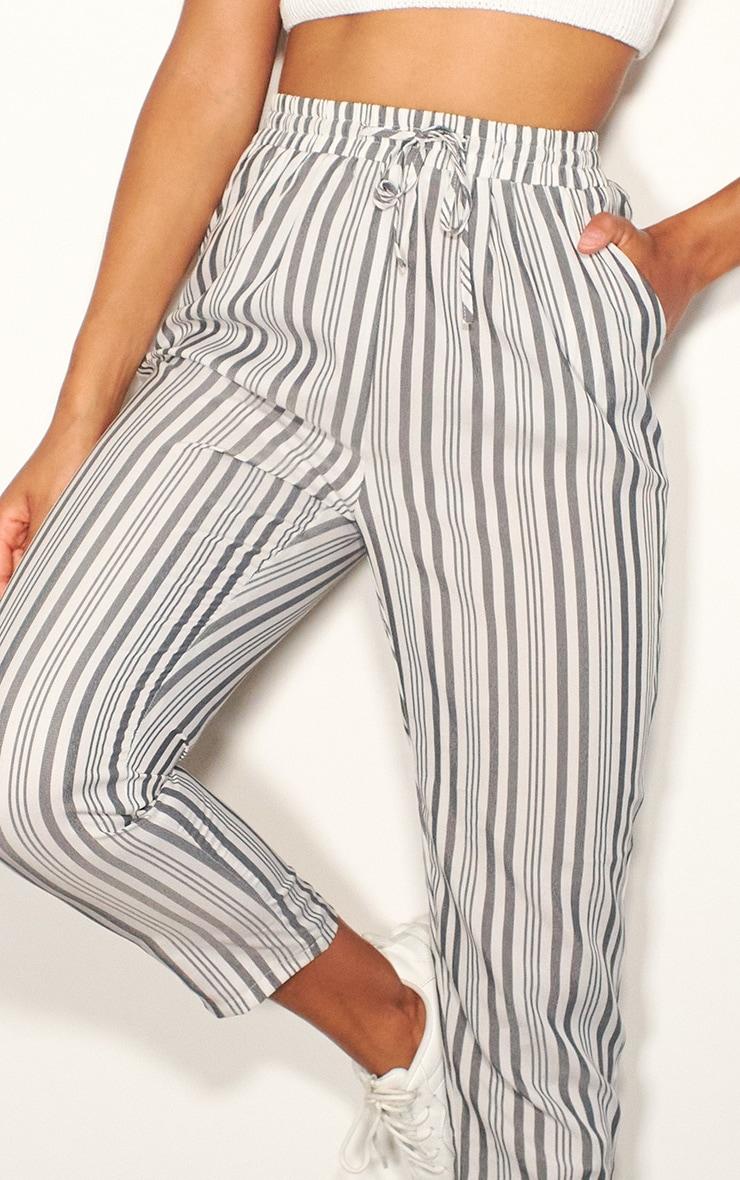 White Stripe Diya Casual Cigarette Pants 4