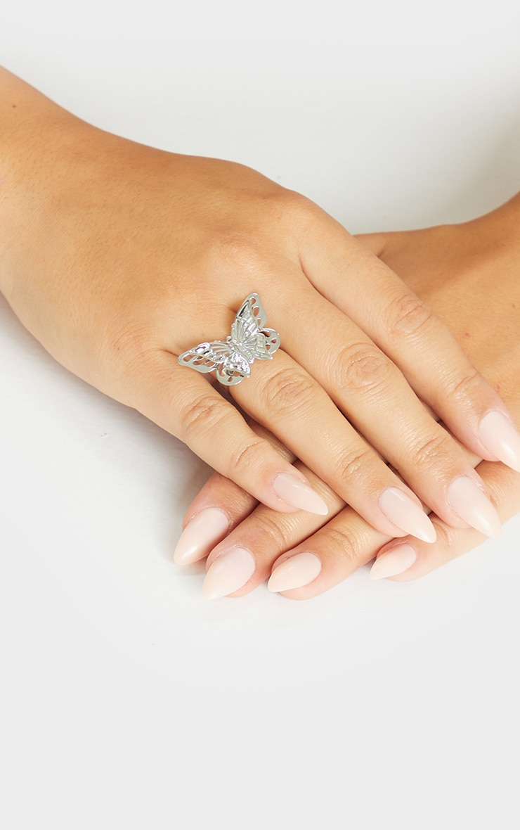 Silver Butterfly Ring 1