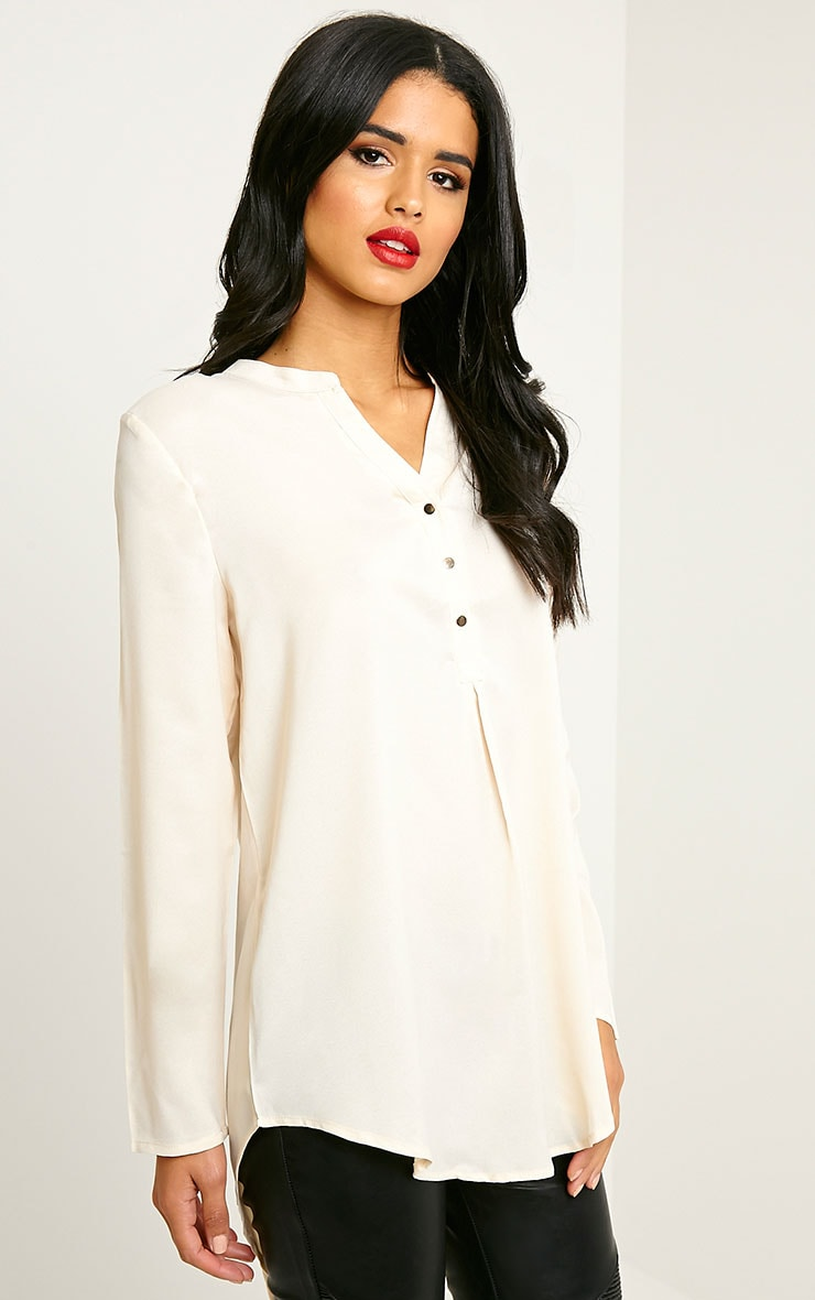 Caia Cream Oversized Shirt 4