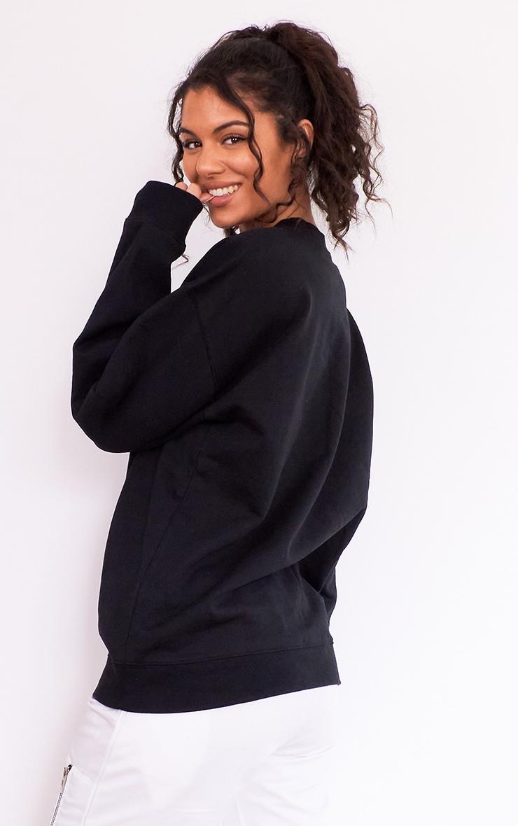 Black No Place Like Home Slogan Sweater 2