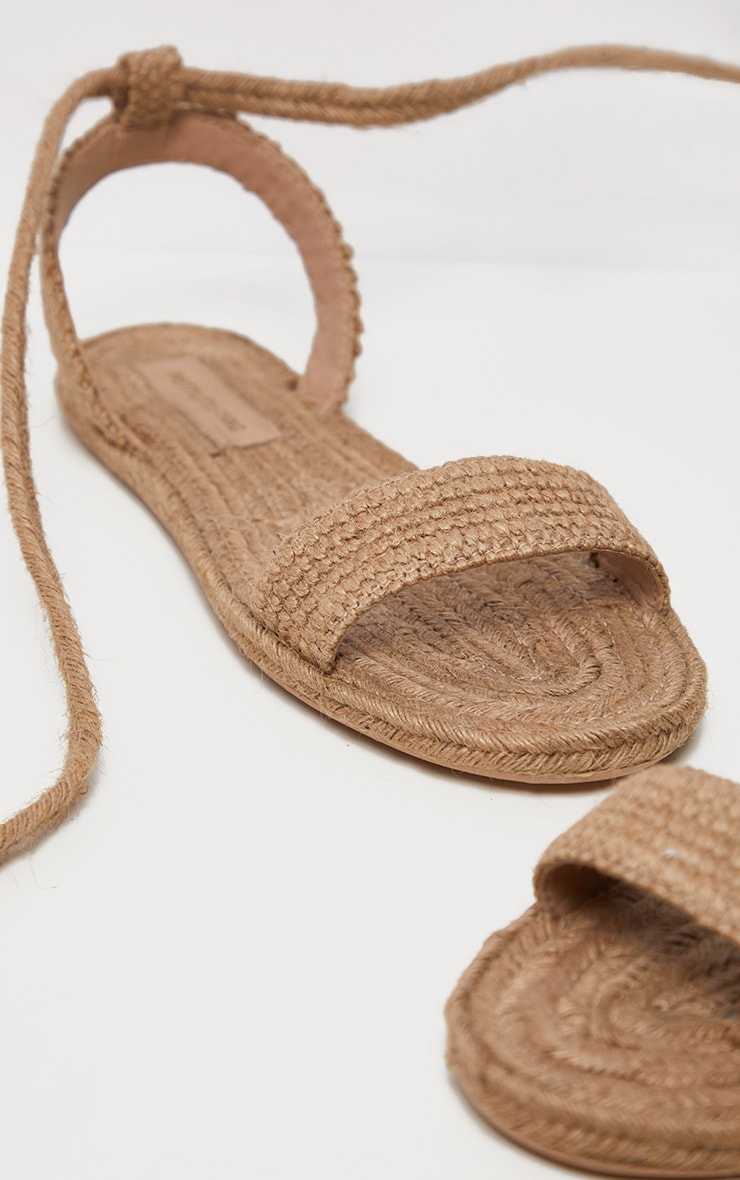 Natural Espadrille Lace Up Sandal 3