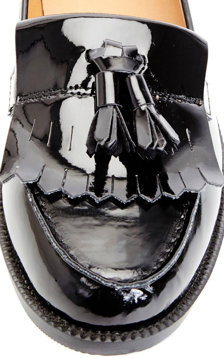 Rita Black Patent Loafer 3