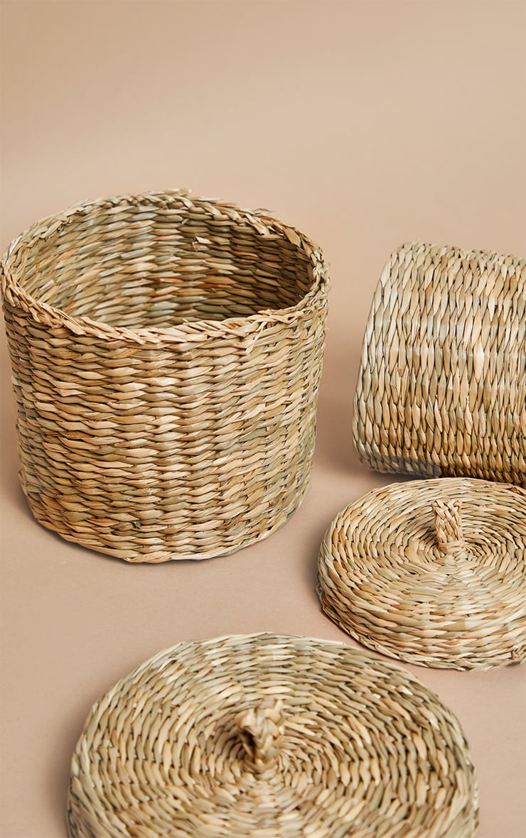 Seagrass Baskets With Lid 2 Pack 4